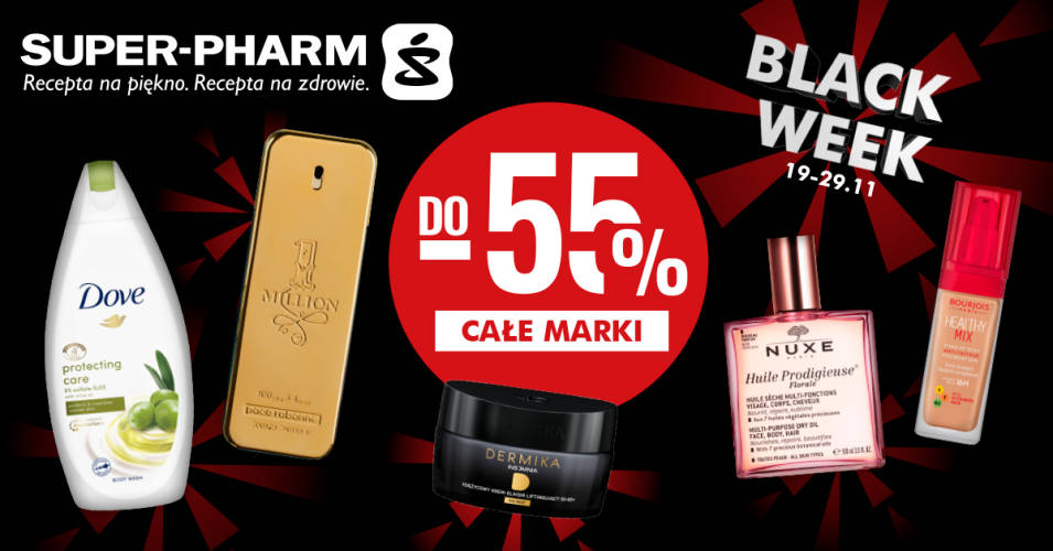 Black Week , rabaty do -55% na całe marki w Super-Pharm - 1