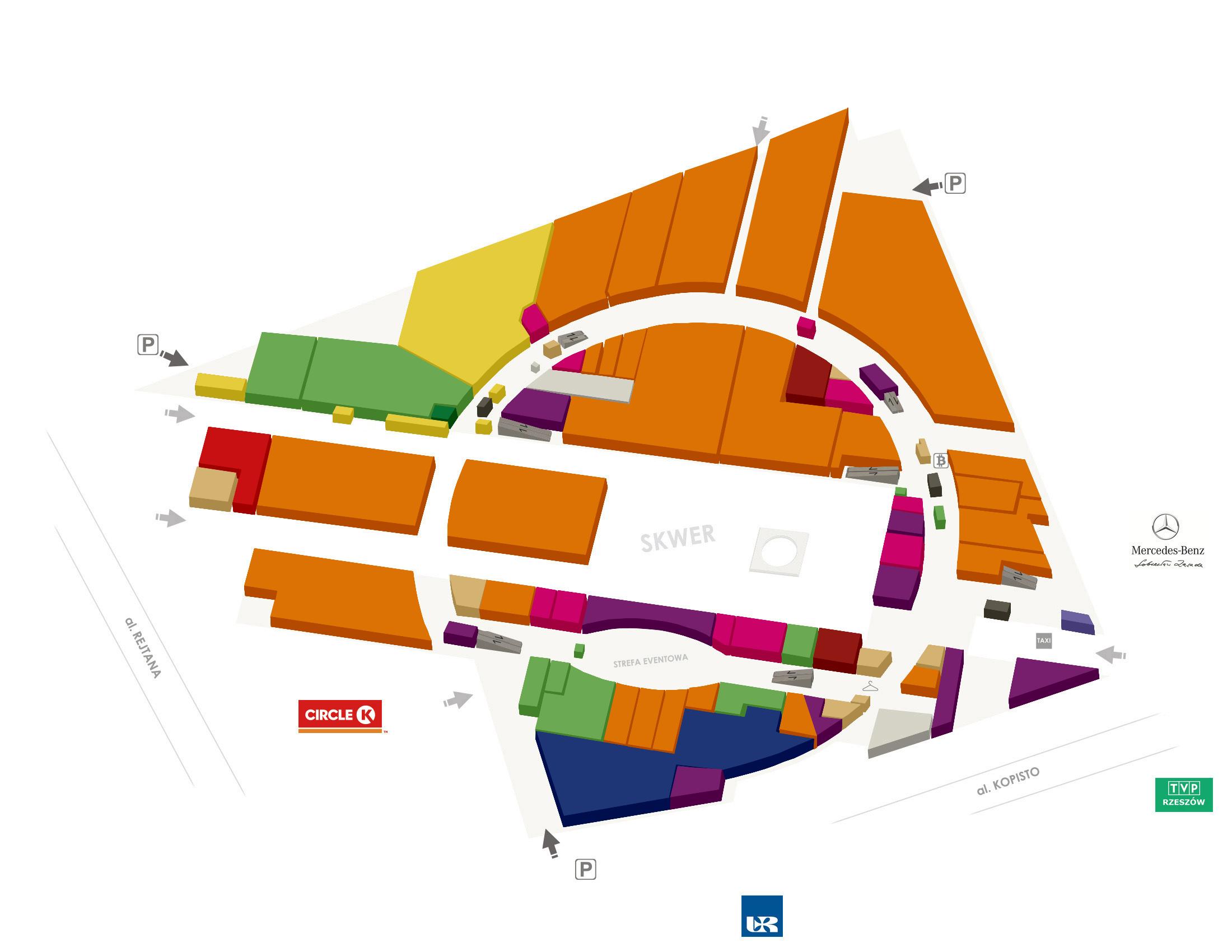 Plan centrum Pasaż, Galeria, Centrum Kulturalno Handlowe